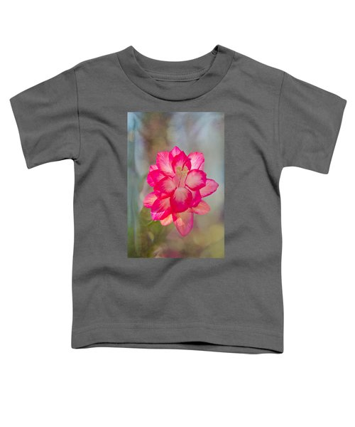Christmas Cactus Bokeh Toddler T-Shirt