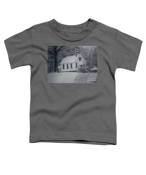 Christmas Card - Snow - Gates Chapel Toddler T-Shirt