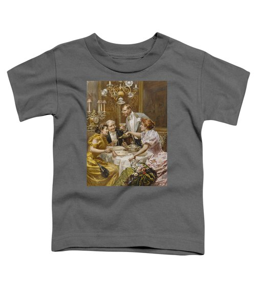 Christmas Eve Dinner In The Private Dining Room Of A Great Restaurant Toddler T-Shirt