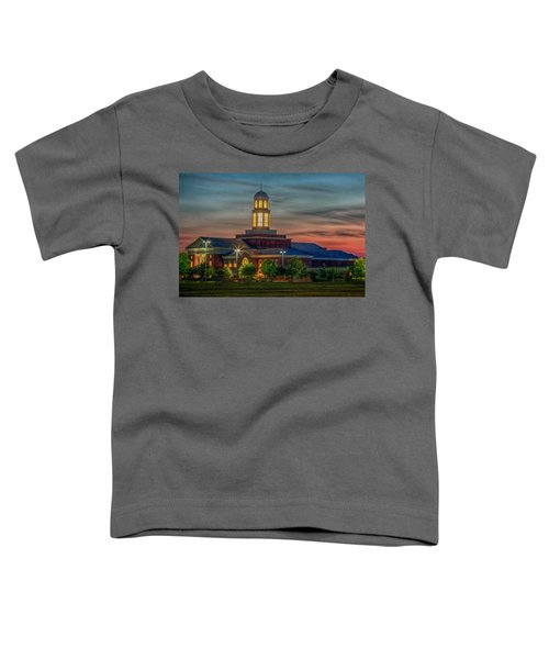 Christopher Newport University Trible Library At Sunset Toddler T-Shirt