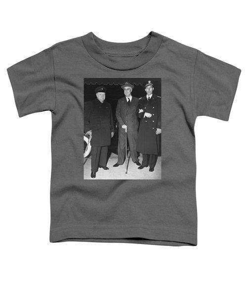 Churchill And Roosevelt Toddler T-Shirt