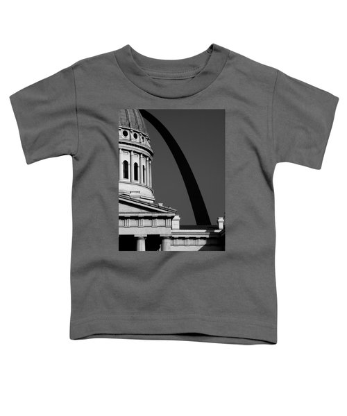Classical Dome Arch Silhouette Black White Toddler T-Shirt