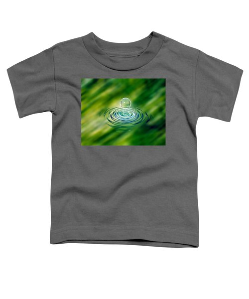 Clear Bubble Rising From Ripples Toddler T-Shirt