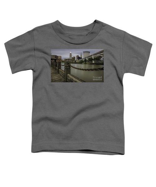 Cleveland Ohio Toddler T-Shirt by James Dean