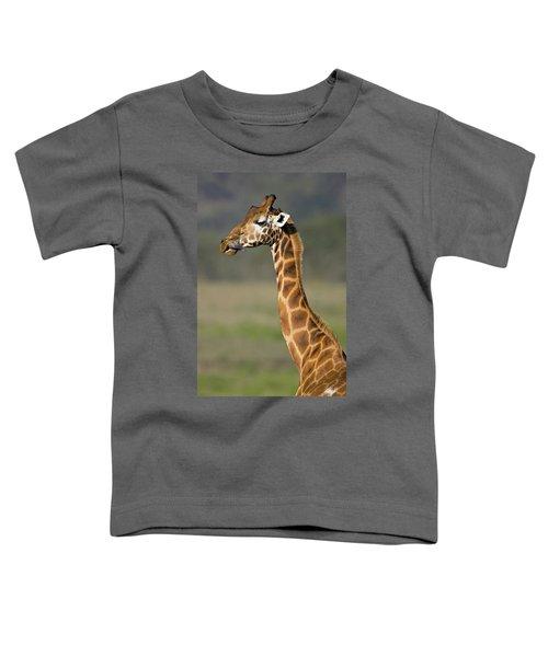 Close-up Of A Giraffe Giraffa Toddler T-Shirt