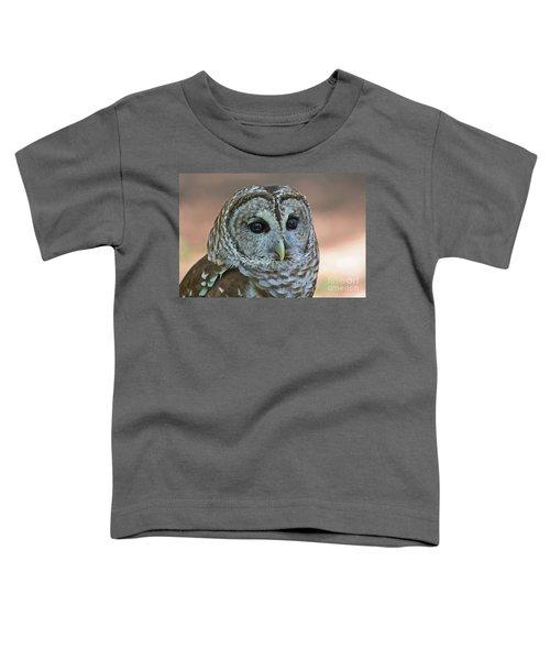 Closeup Of A Barred Owl  Toddler T-Shirt