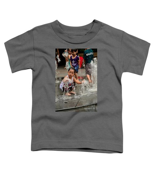 Clothed Children Play At Water Fountain Toddler T-Shirt