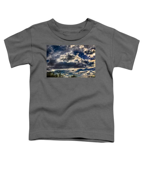 Toddler T-Shirt featuring the photograph Cloud Drama by Mark Myhaver