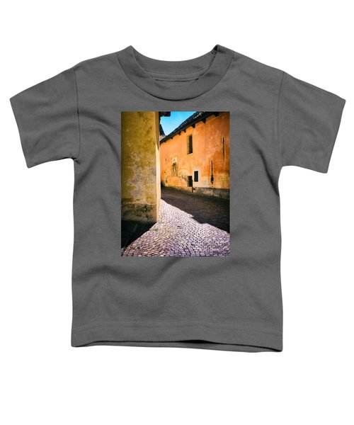 Toddler T-Shirt featuring the photograph Cobbled Street by Silvia Ganora