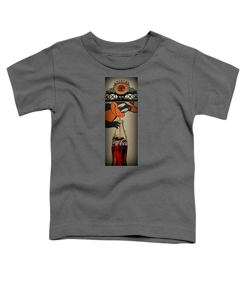 Coca Cola Orioles Sign Toddler T-Shirt by Stephen Stookey