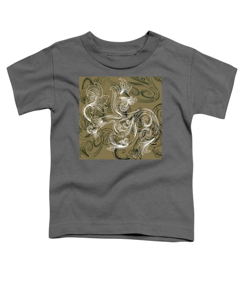 Coffee Flowers 2 Olive Toddler T-Shirt