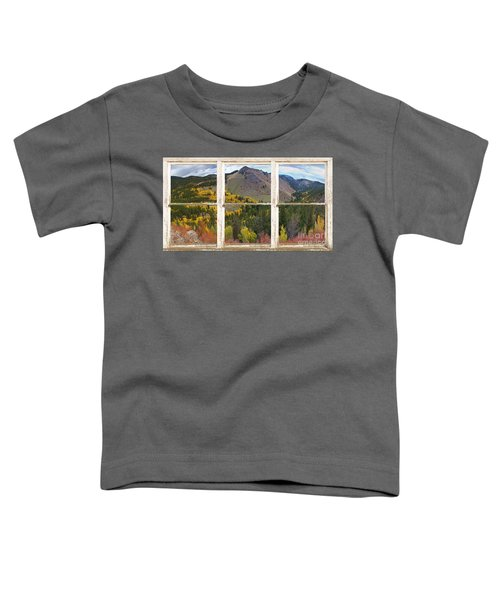 Colorful Colorado Rustic Window View Toddler T-Shirt