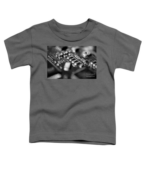 Computer Board Black And White Toddler T-Shirt
