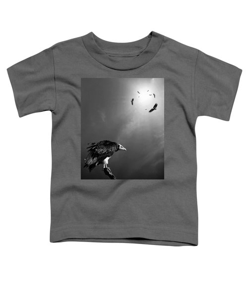 Conceptual - Vultures Awaiting Toddler T-Shirt by Johan Swanepoel