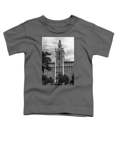 Coral Gables Biltmore Hotel In Black And White Toddler T-Shirt