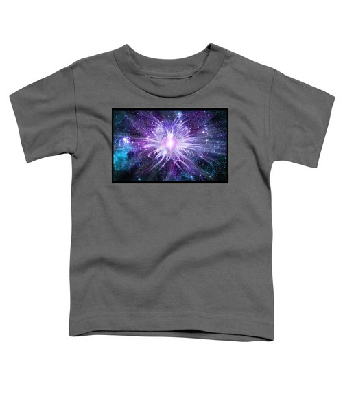 Toddler T-Shirt featuring the digital art Cosmic Heart Of The Universe by Shawn Dall