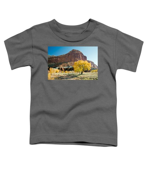 Cottonwoods In Fall The Castlecapitol Reef National Park Toddler T-Shirt