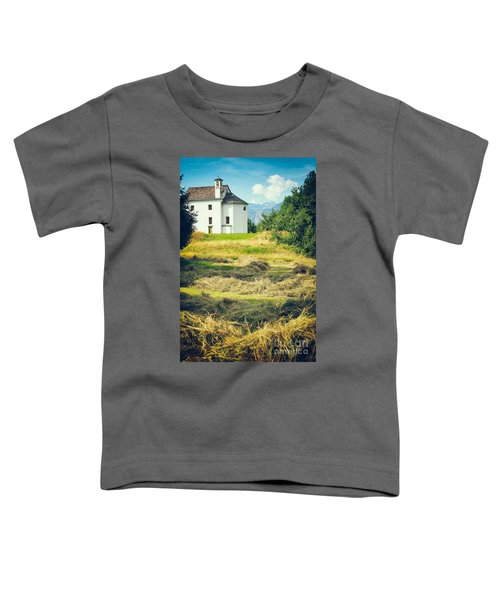 Toddler T-Shirt featuring the photograph Country Church With Hay by Silvia Ganora