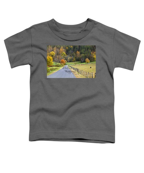 Cow Pasture With Scripture Toddler T-Shirt