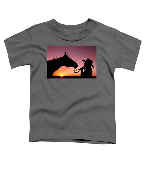 Cowgirl Sunset Toddler T-Shirt