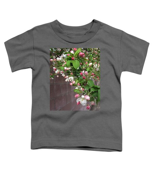 Crabapple Blossoms And Wall Toddler T-Shirt