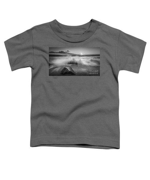 Crashing Waves Bw Toddler T-Shirt