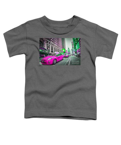 Crazy Cabs In Manhattan Toddler T-Shirt