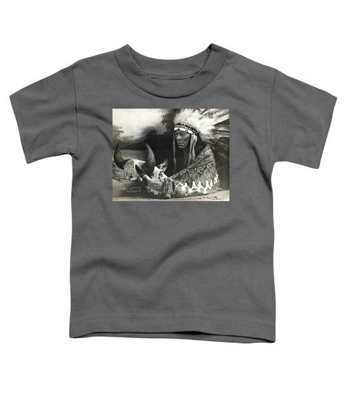 Cree Chief With Buffalo Skull Toddler T-Shirt