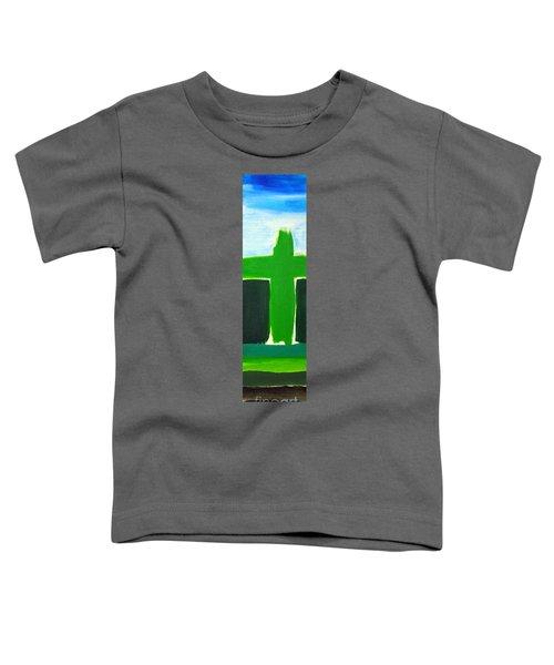 Green Cross On Hill Toddler T-Shirt