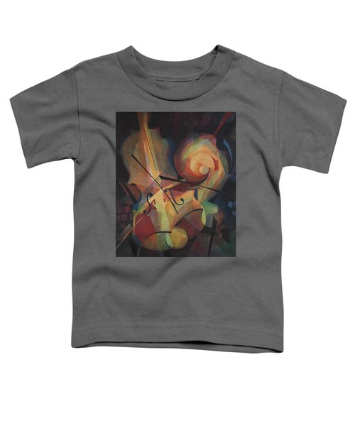 Cubist Play - Abstract Cello Toddler T-Shirt