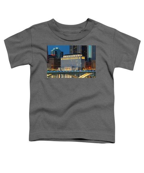 D2l496 Columbus Ohio Night Skyline  Toddler T-Shirt