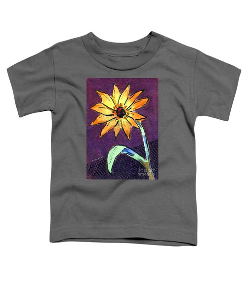 Daisy On Dark Background Toddler T-Shirt