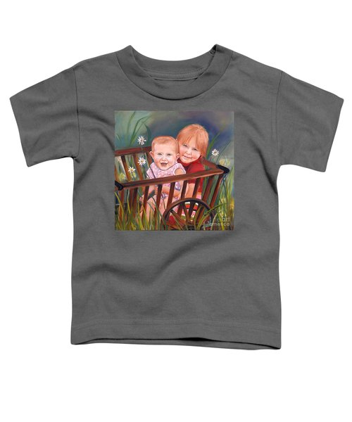 Daisy - Portrait - Girls In Wagon Toddler T-Shirt