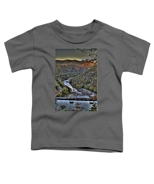 Toddler T-Shirt featuring the photograph Dam In The Forest by Jonny D