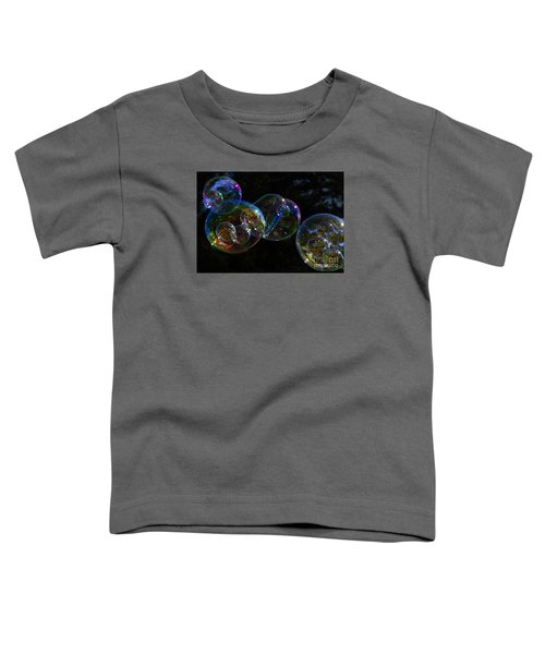 Toddler T-Shirt featuring the photograph Dark Bubbles With Babies by Nareeta Martin