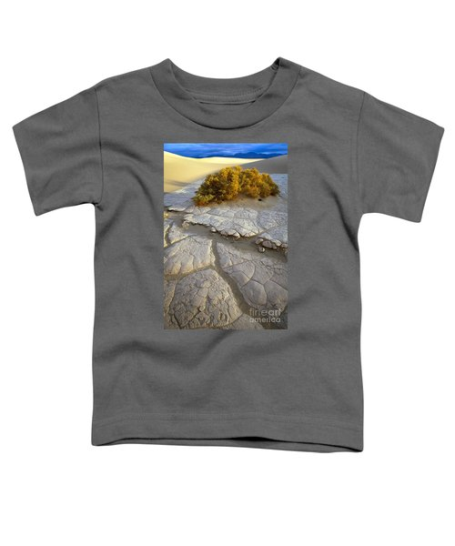 Death Valley Mudflat Toddler T-Shirt by Inge Johnsson