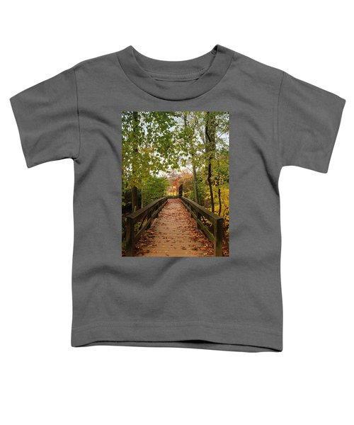 Decorate With Leaves - Holmdel Park Toddler T-Shirt