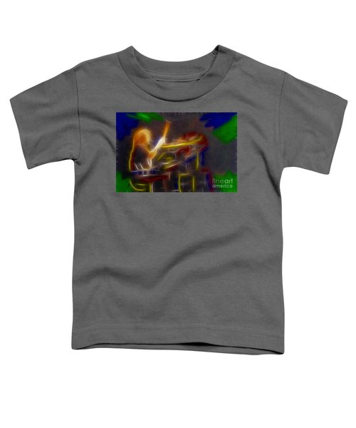 Def Leppard-adrenalize-gf24-ricka-fractal Toddler T-Shirt by Gary Gingrich Galleries