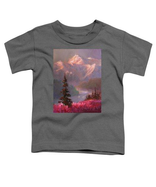 Denali Summer - Alaskan Mountains In Summer Toddler T-Shirt