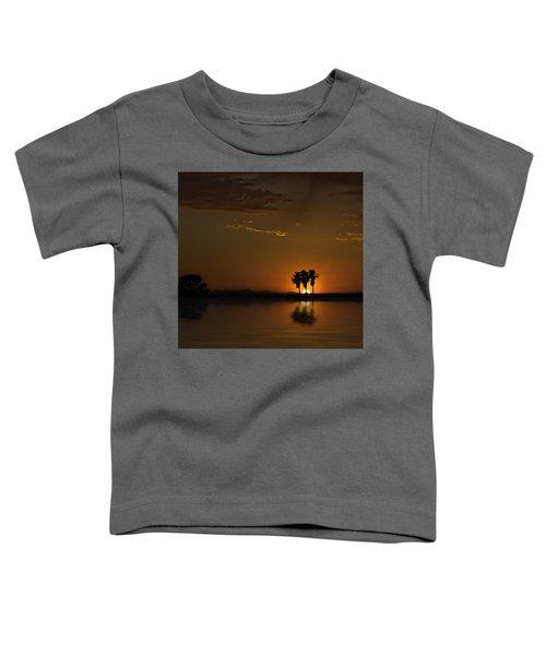 Desert Sunset Toddler T-Shirt by Lynn Geoffroy