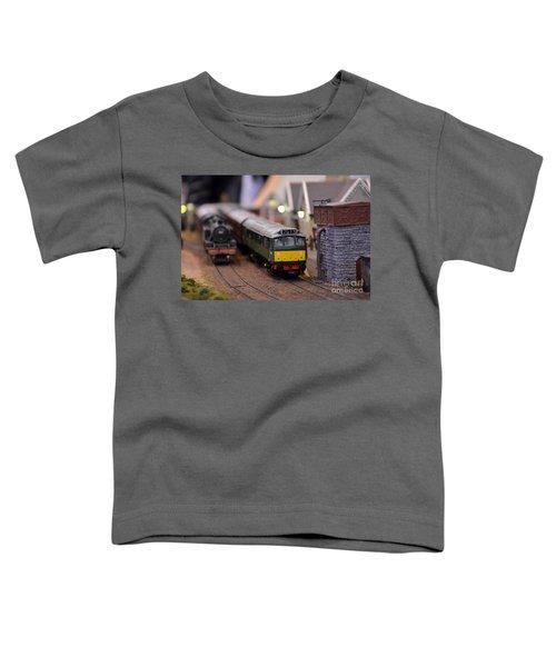 Diesel Electric Model Train Railway Engine Toddler T-Shirt