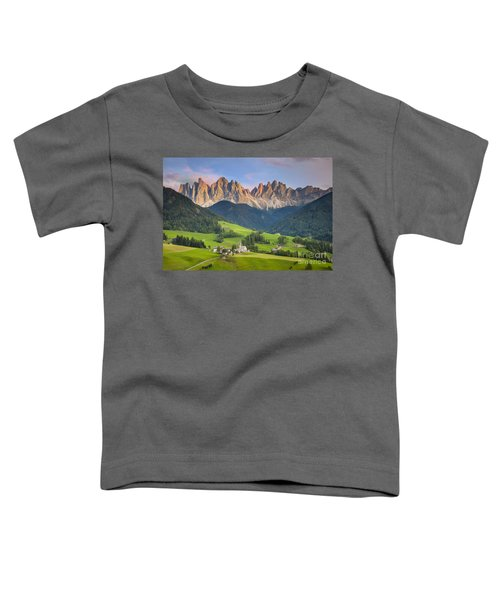 Dolomites From Val Di Funes Toddler T-Shirt