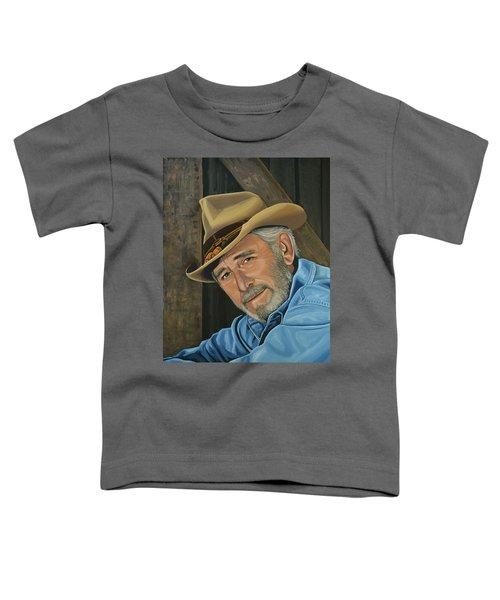 Don Williams Painting Toddler T-Shirt