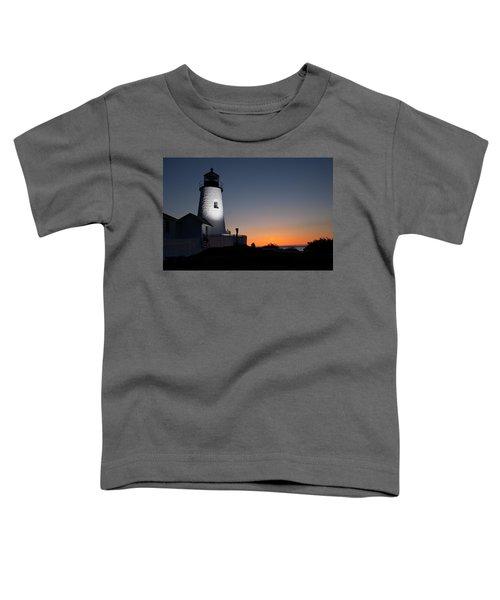 Dramatic Lighthouse Sunrise Toddler T-Shirt