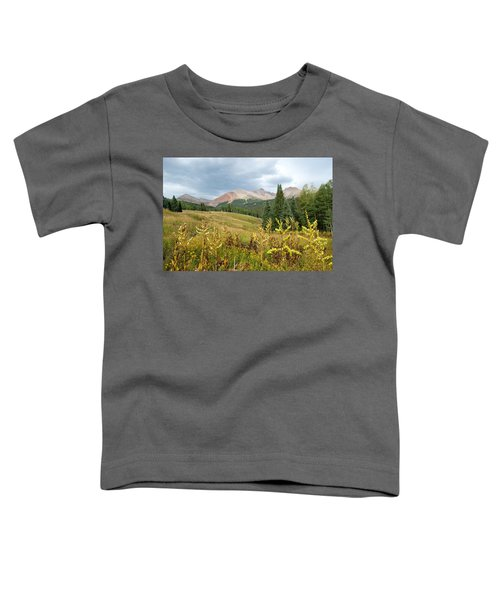 Early Autumn In The San Juans -  Mount Wilson And Wilson Peak Toddler T-Shirt