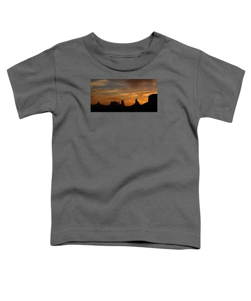 Early Sunrise Over Monument Valley Toddler T-Shirt