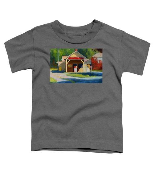 Earlysville Virginia Old Service Station Nostalgia Toddler T-Shirt