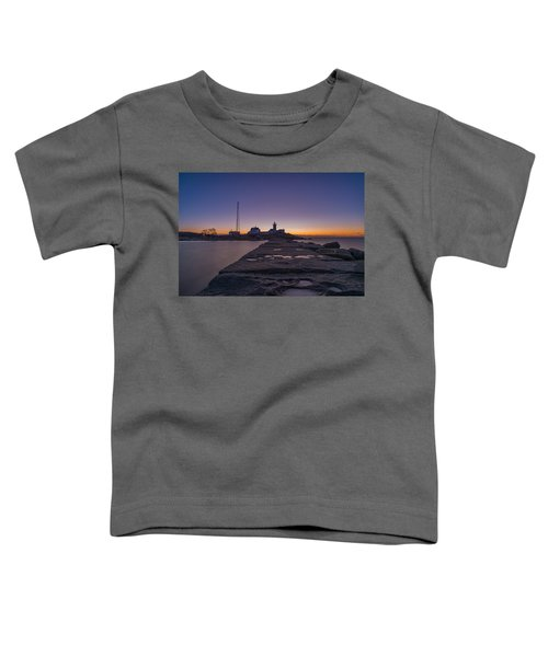 Eastern Point Lighthouse Just Before Sunrise Gloucester Ma Toddler T-Shirt