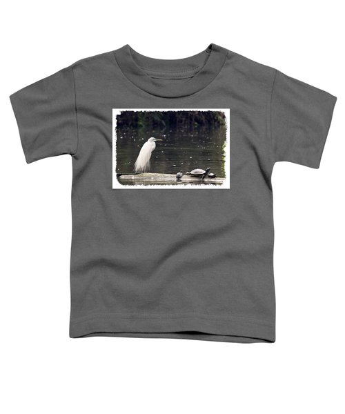Egret And Turtles Toddler T-Shirt