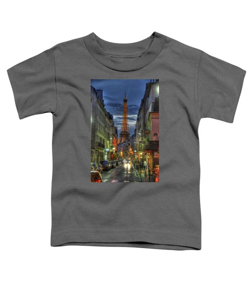 Eiffel Over Paris Toddler T-Shirt
